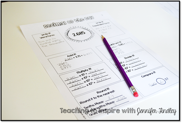 Math Centers and Printable Resources for 5th Grade Common Core Math