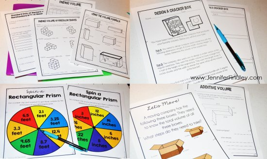 Resources and activities for teaching volume in 5th grade