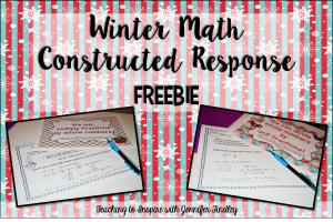 Winter Math: Free Constructed Response Practice
