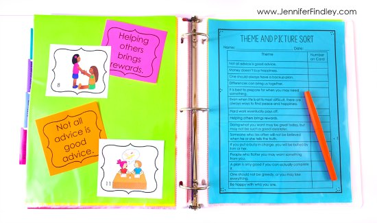 Theme sort! Teaching themes in literature made easy and effective! Read how I teach theme and the theme activities I use on this post, free resource included!