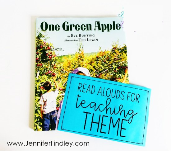 Read alouds and picture books for teaching theme! Teaching themes in literature made easy and effective! Read how I teach theme and the theme activities I use on this post, free resource included!