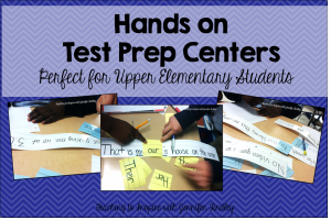Hands On Test Prep for Upper Grades
