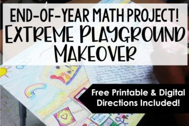 End of year math project idea! Read mroe and grab a set of free printable and digital directions for this engaging math activity that is perfect for the end of the year!