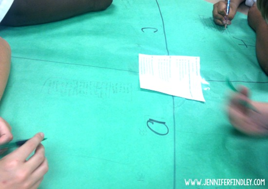 This test prep activity is a spin-off on a graffiti activity. It has the students working with multiple partners to analyze questions and even compare and contrast each other's work.