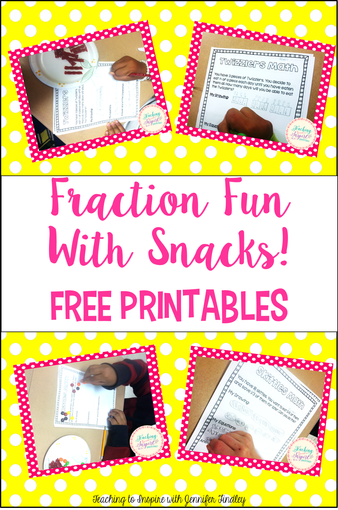 Fraction Fun with Snacks Free Printables!