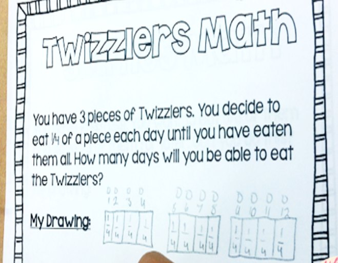 FREE multiplying and dividing fractions with snacks printables! This engaging lesson involves snacks and has the students solving word problems that involve multiplying and dividing fractions.