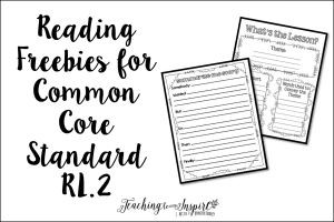 Teaching Theme and Summarizing : Common Core Reading Freebies