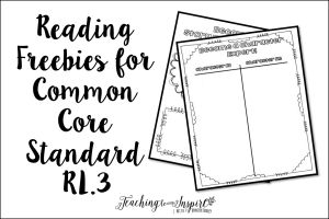 Common Core Reading: Teaching Story Elements