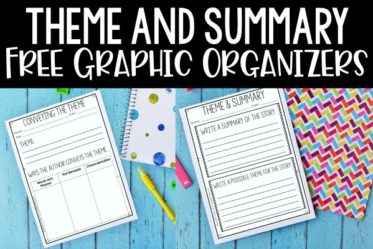 Free graphic organizers for teaching theme and summarizing in 4th and 5th grade!