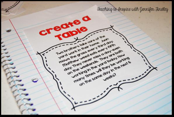 math strategies create a table