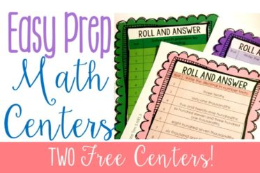 Math centers can be easy-prep and engaging. Read this post to learn about math centers that are both of these. Grab two free centers as well!