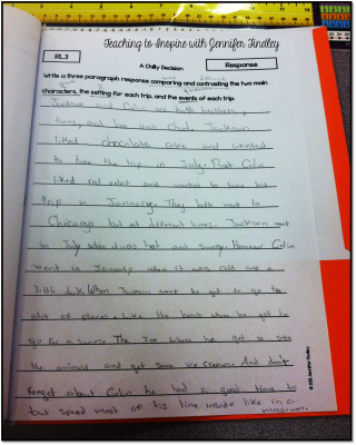 Close Reading Constructed Response