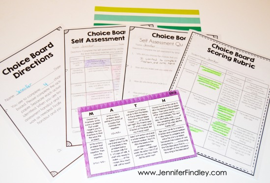 Do you use choice boards to differentiate and engage your students? If so, grab these FREE choice board scoring resources to help you and your students assess the work.