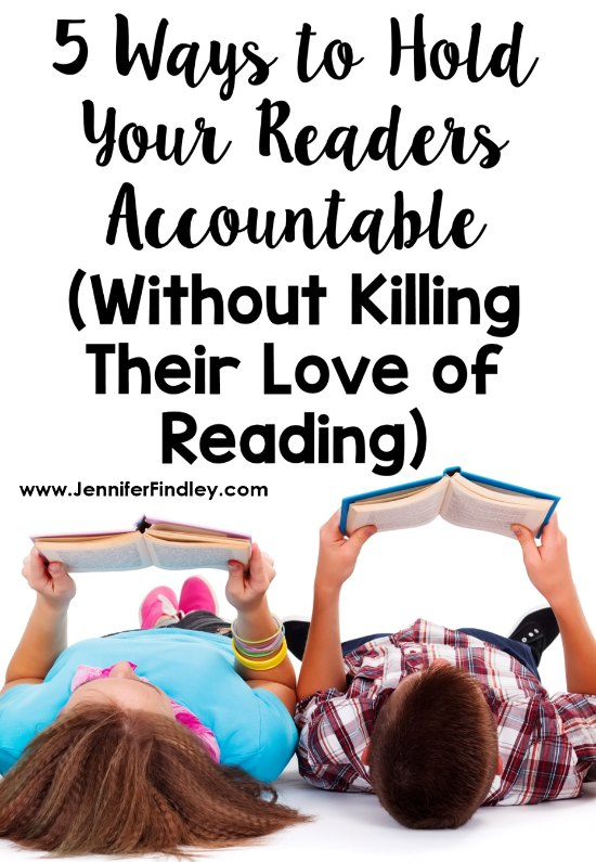 Holding readers accountable for their reading can be tricky. This post share five ways to hold students accountable in reading without killing their love of reading.