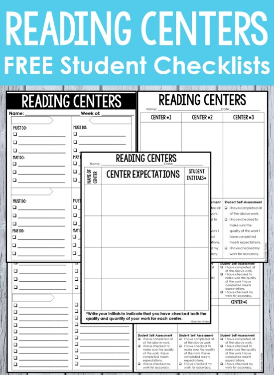 FREE Reading Center Checklists! Reading centers, or reading stations, can be a great supplement to independent reading and can really help your students master key reading skills. Read this post for reading centers management tips and strategies.