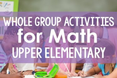 Whole group instruction for math doesn't have to be boring. Read more about whole group math instruction and whole group activities that will engage and motivate your students.