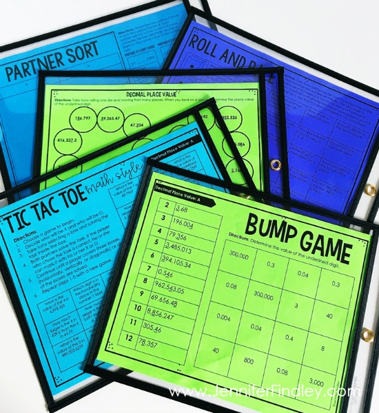 Partner games are perfect for adding in engaging math practice after whole group math instruction. Read more on this post.