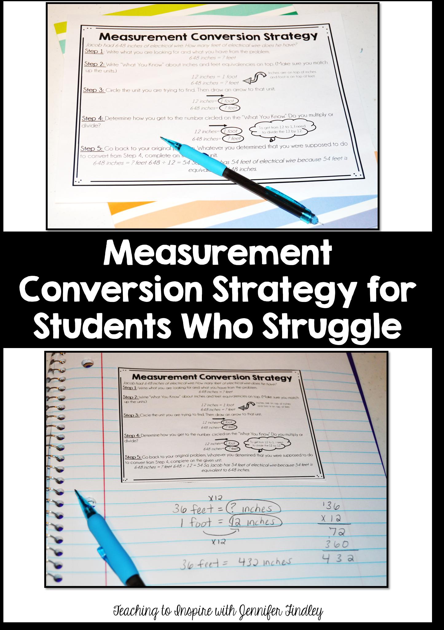 Measurement Conversion Strategy