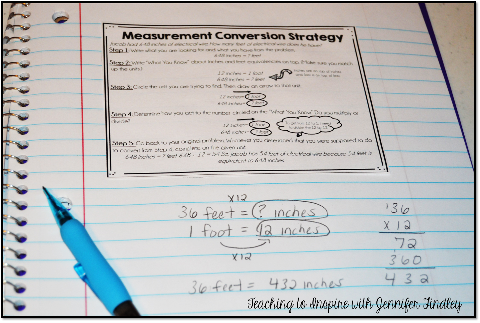Measurement conversions for kids who just dont get it teaching to measurement strategy inb geenschuldenfo Image collections