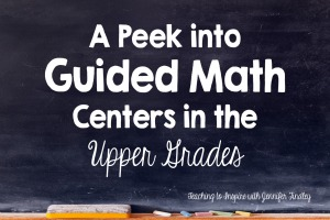Guided Math in the Upper Grades