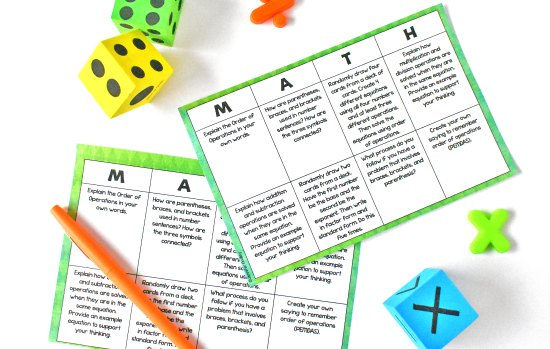 Math choice boards are the perfect way to keep your early finisher's engaged and busy during guided math centers. Grab some free ones on this post!
