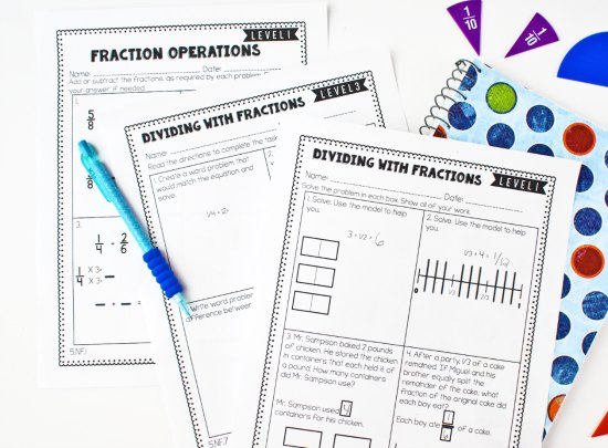 FREE differentiated guided math printables for 3rd-5th grades