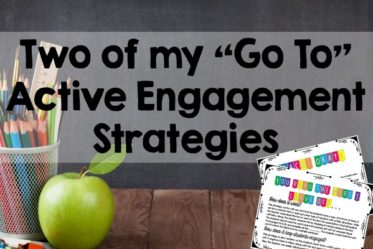 This post share two simple active engagement strategies.