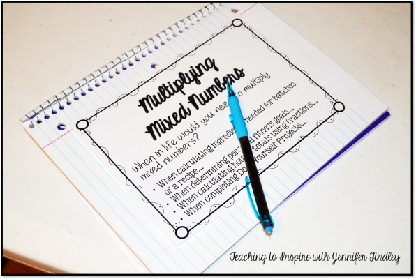 Multiplying Mixed Numbers Poster