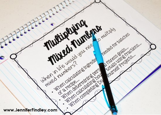 Help your students master multiplying mixed numbers with these FREE real-world example tasks and printables, as well as the anchor chart I use.