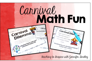 Carnival Math Freebie { Real Life Math }