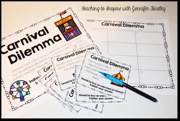 Carnival Math Task Cards