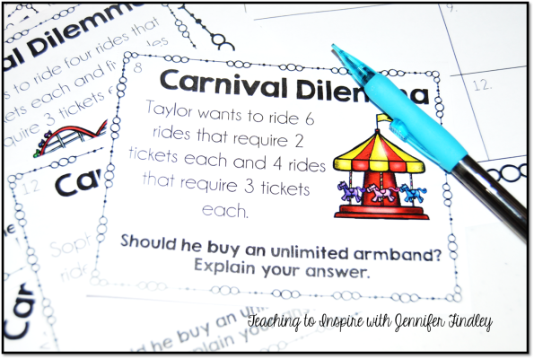 Carnival Math Task Freebies