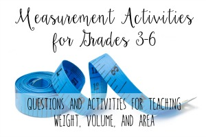 Measurement Activities and Questions to Ask