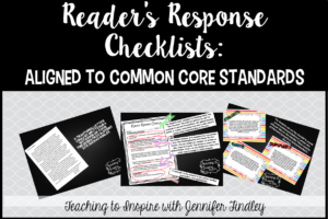 Reader's Response Letters {Rigorous CCSS Aligned Checklists}