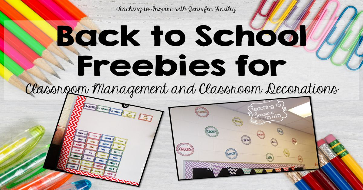 Classroom Decoration Freebies ~ Back to school classroom management and decor freebie