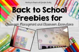 Back to School Classroom Management and Decor Freebie