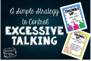 Controlling Excessive Talking in the Classroom