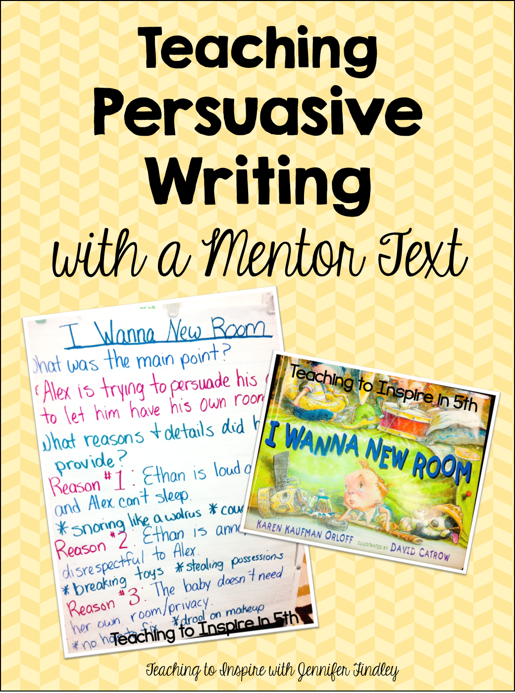 mentor text for persuasive writing A mentor text should ultimately be discussed by students for one of two purposes: 1) to showcase a writing skill found in the text that you want students to notice and then practice in their own writing and 2) to motivate students to write something different-yet-similar that was inspired by the mentor text's idea or structure.