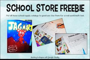 School Store Math Freebie {Real World Math Task}