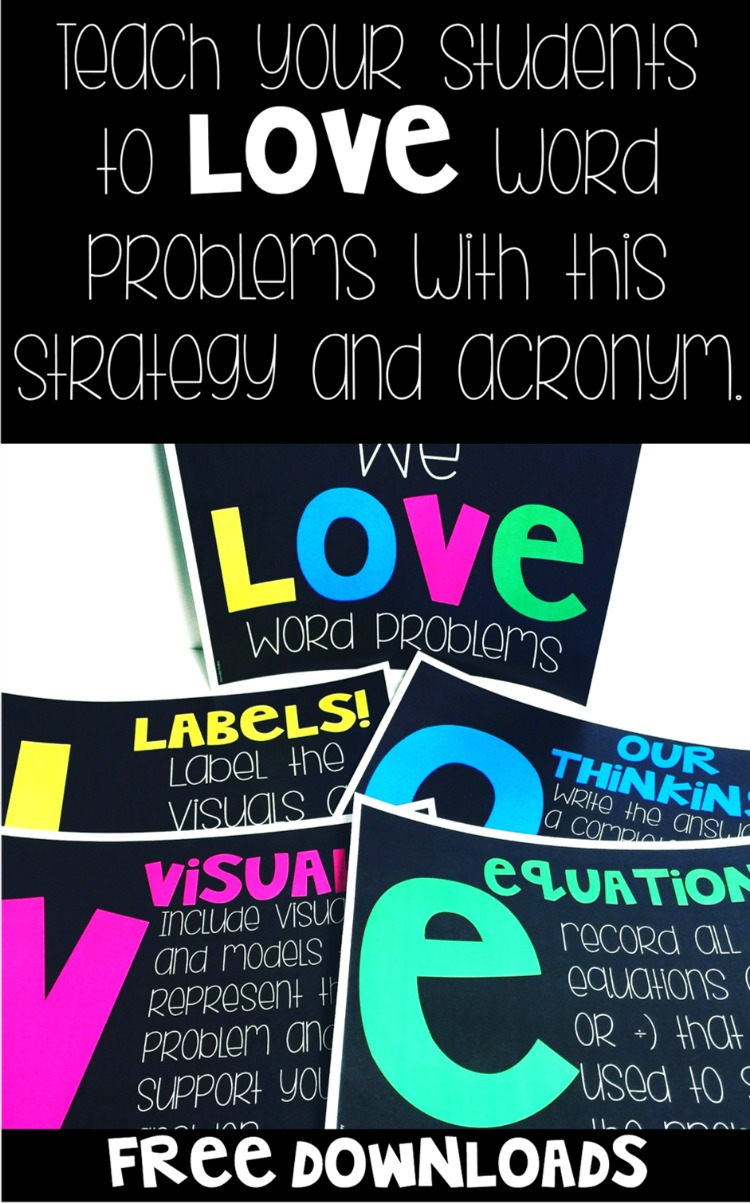 Teach your students to LOVE word problems with this strategy and acronym.