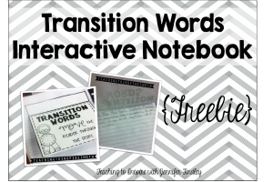 Transition Words {Interactive Notebook} Freebie!