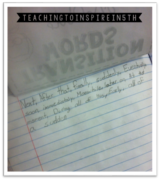 teaching transitions in writing