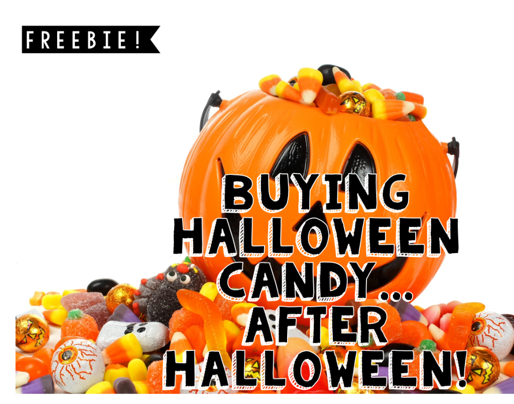 After Halloween Candy Shopping Freebie (Math is Real LIfe)