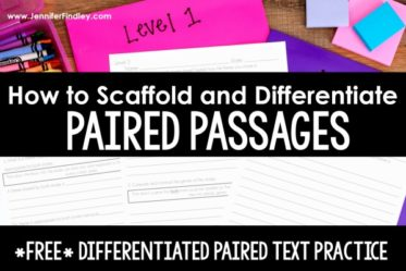 This post shares how teachers can scaffold, differentiate, and supports students with paired texts and paired passages, including a free differentiated paired text resource to use!