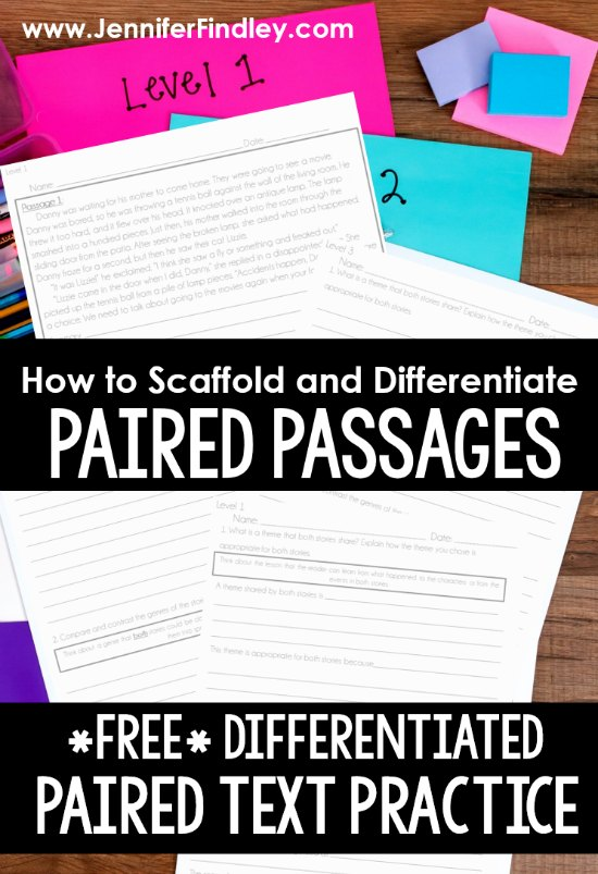 This post shares how teachers can scaffold, differentiate, and support students with paired texts and paired passages, including a free differentiated paired text resource to use!
