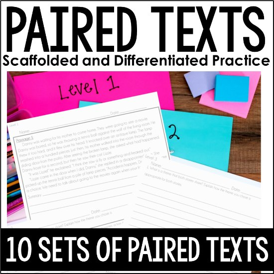 Scaffolded and Differentiated Paired Texts for Grades 4-5!