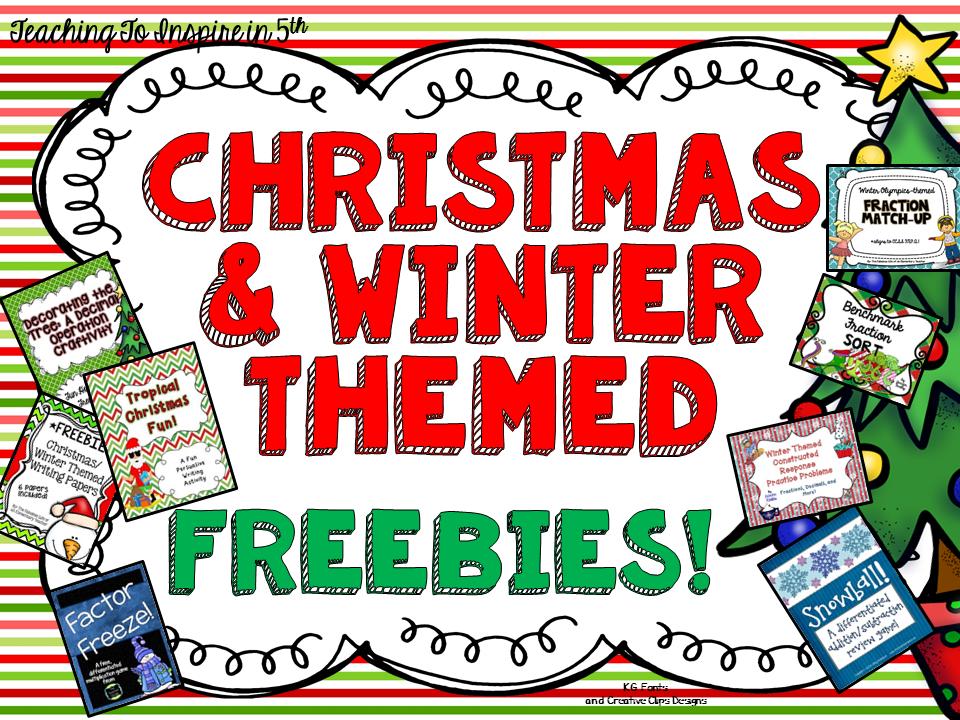 Christmas & Winter Freebies {EIGHT Freebies}