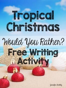 Tropical Christmas Writing Activity