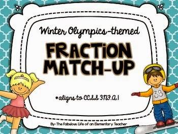 http://www.teacherspayteachers.com/Product/Fraction-Match-Up-FREEBIE-Winter-Olympics-Themed-1033891