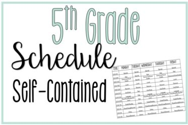 Seeing other teachers' schedules can help teachers schedule their own class times. Read this post to see my 5th grade schedule (self-contained).